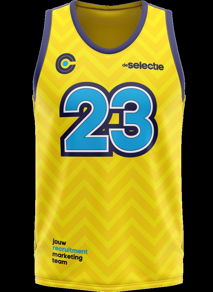basketbalshirt-geel