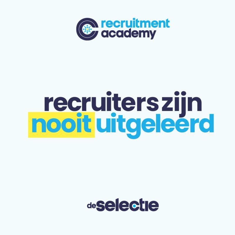 recruiters zijn nooit uitgeleerd